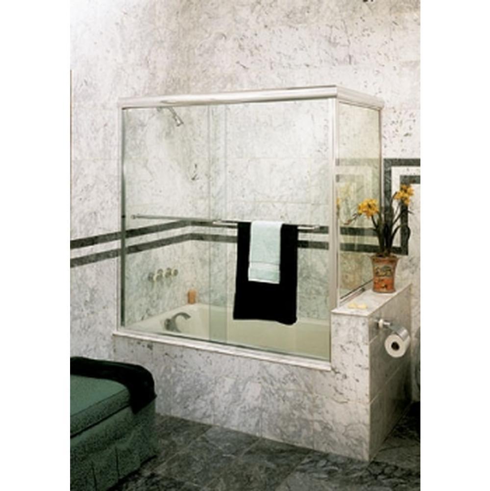 Century Bathworks Ct 636b Corner Tub Enclosure Silver Anodized Aluminum Clear Gl Traditional Tow