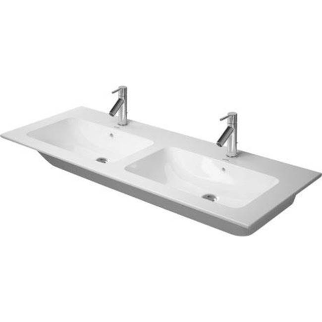 Duravit   2336130030   Double Washbasin 1300 ME By STARCK White, With OF,  With TP, 3 TH