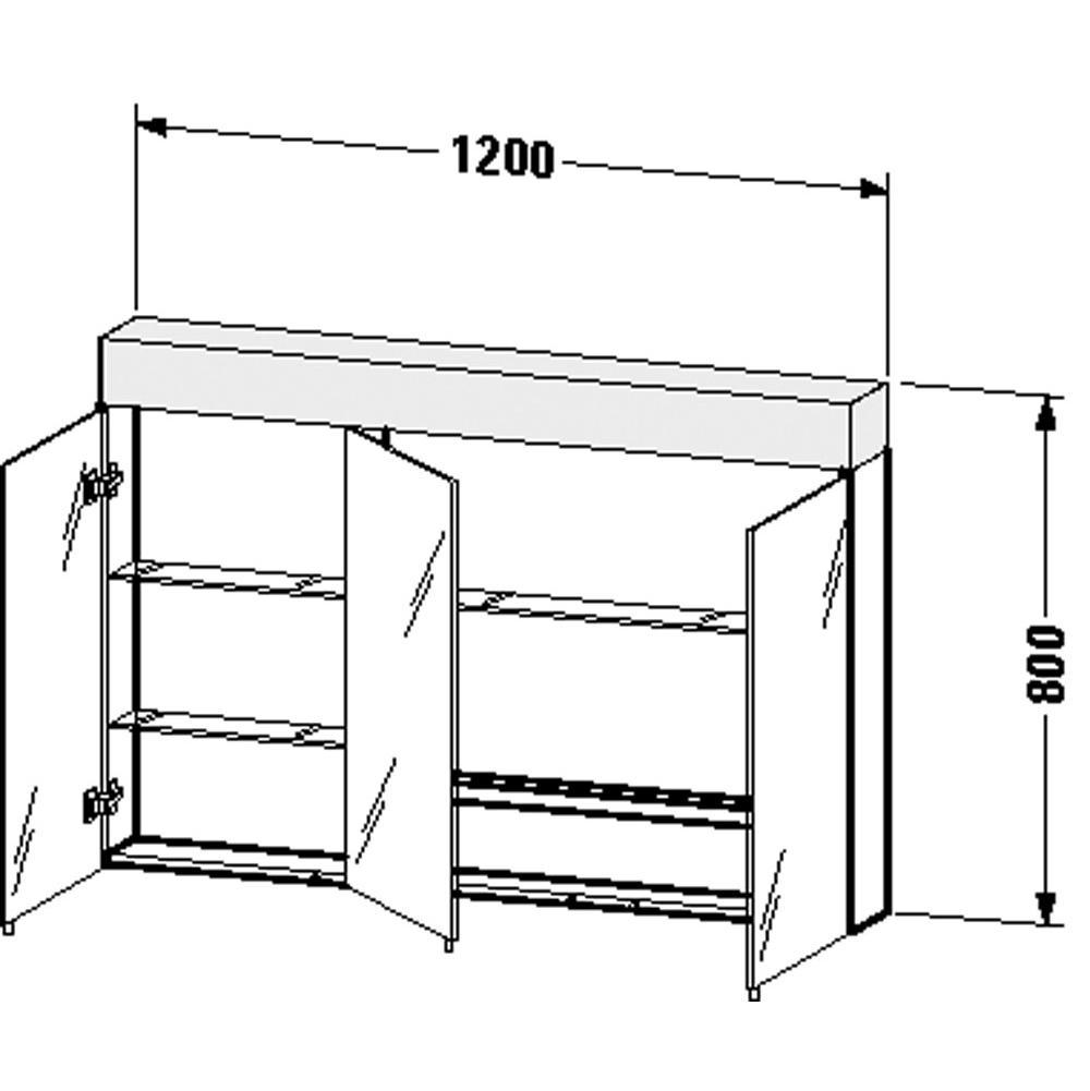 Duravit   VE750400000   Mirror Cabinet Vero 31 1/2u0027u0027x47 1/4u0027u0027x5 5/8u0027u0027