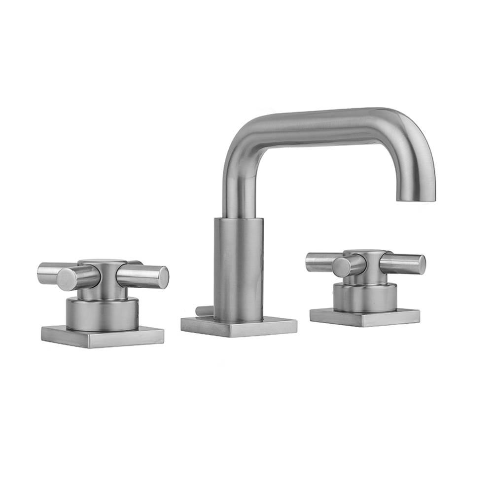 Jaclo 9980-T672-TRIM-SN Contempo Roman Bathtub Filler with Thumb Control Handles Satin Nickel Standard Plumbing Supply