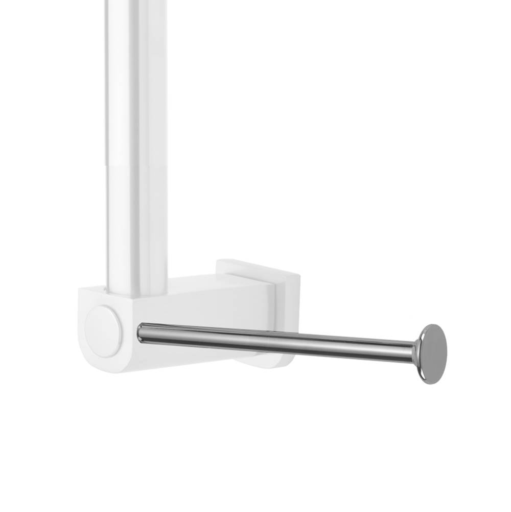 Jaclo Cntpr90 Orb Vertical Right Contemporary Grab Bar Toilet Paper Or Wash Cloth Holder